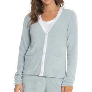 Barefoot Dreams Cozychic Tipped Cardigan Size XS
